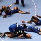 French players were simply overcome by the enormity of their victory over Denmark in the semifinals in Sao Paulo.