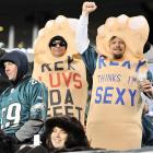 A touching, heartfelt tribute to the head coach of the New Jets was spotted in the stands at Philadelphia's Lincoln Financial Field while his team was getting its collective head handed to it, 45-19, by the Eagles.