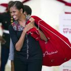 The First Lady hauls a bag of coal for her many critics, some of whom have assailed her for having an ample caboose and the temerity to preach good nutrition to a nation that loves itself some cheeseburgers and double-wide trousers.