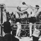 """The first three-division in boxing history, Fitzsimmons (left) captured belts at middleweight, light heavyweight and heavyweight. Though he stopped Peter Maher in an 1896 fight that was billed as a world heavyweight title fight, """"Ruby Robert"""" didn't win the recognized lineal title until knocking out James J. Corbett in 14 rounds the following year."""