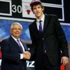 The Wizards get their man in Vesely (No. 6 pick), an explosive and dynamic talent who has drawn comparisons to Andrei Kirilenko. This was the worst-kept secret of the draft, with Washington hoping all along Vesely would be there. At 6-11, he can run with the franchise's centerpiece, point guard John Wall, and trade alley-oops with the likes of center JaVale McGee.