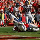 Tebow scored his second rushing touchdown of the season but only completed two passes against the Chiefs. One was a 56-yard touchdown pass to Eric Decker in the fourth quarter to give the Broncos the win.