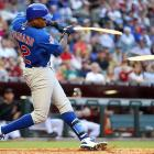 Cubs outfielder Alfonso Soriano breaks his bat during a game against the Arizona Diamondbacks in April. Chicago won 5-3, but finished 71-91, a disappointing fifth in the NL Central.