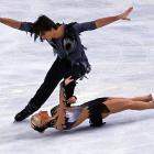 Russia's Maxim Trankov and Tatiana Volosozhar (on ground) were cool under pressure during an ice-skating competition in Paris in November. The duo won first place, with their total score of 194.13 coming in well ahead of the second-place finishers', Vera Bazarova and Yuri Larionov, mark of 184.91.