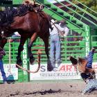 Matt Marvel was bucked off his horse during the 93rd annual Livermore Rodeo in California in June. As you can see, it didn't end well for Marvel.