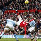In perhaps the goal of the year, and arguably the decade, Wayne Rooney knocks in a bicycle kick during Manchester United's match against Manchester City in February. It turned out to be the game-winner in an eventual 2-1 victory.