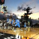 North Carolina and Michigan State kicked off the 2011 college basketball season aboard the USS Carl Vinson off the coast of San Diego. The Tar Heels triumphed, 67-55.