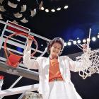 Summit cuts down the net after winning her third national championship in five years. The Lady Vols defeated Virginia 70-67.
