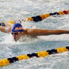 California native Tyler Clary competes in the 200-meter butterfly preliminary on Saturday Dec. 3. Clary would finish third in the prelim but leave Atlanta as the men's high point award winner by virtue of his win in the men's 200 backstroke.