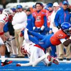 Boise State can't earn an automatic BCS bid since TCU won the Mountain West, but the Broncos padded their at-large resume with a beatdown of New Mexico. Geraldo Boldewijn (pictured) was one of 12 receivers Kellen Moore hit on the day.