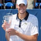 def. Tomas Berdych 3-6, 6-4, 7-6 (11-9) ATP World Tour 250, Hard, $625,000 Winston-Salem, N.C.