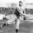 The greatest World Series of baseball's first 20 years with five games decided by two runs or fewer and a Game 2 6-6 tie. Giants take 2-1 lead in top of the 10th inning of Game 8 and with Christy Mathewson on the mound, the Red Sox looked dead. But a muffed outfield fly by Fred Snodgrass and a foul fly that was allowed to drop between home and first allow the Red Sox to rally for a 3-2 win. Pitcher Smokey Joe Wood picks up his third win of the Series in relief one day after being shelled in Game 7.