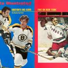Four games decided by one goal. Second Stanley Cup for the Bobby Orr-Phil Esposito Bruins in three years. Orr gets goal and assist in 3-0 Game 6 win as Bruins goalie Gerry Cheevers contributes several brilliant saves. Last Bruins Stanley Cup for 39 years.