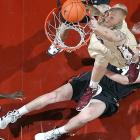 It's hard to believe that Florida State Seminoles center Jon Kreft (50 -- that's his number, not his age) missed this dunk after Princeton Tigers forward Ian Hummer gave him a helping hand at the Donald L. Tucker Center in Tallahassee.