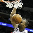 The New Jersey Nets power forward auditioned for a roster spot on the Washington Generals while dunking in an NBA game against the Indiana Pacers on Jan. 2  in Newark.