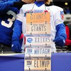 Looks like a few automobiles in the parking lot at Met-Life Stadium were missing their license plates after the great big NFL playoff game between the New York Giants and the Atlanta Falcons.