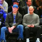 After delivering cold despair to Green Bay, two Giants attended a basketball game between the Phoenix Suns and the New York Knicks at Madison Square Garden and were obviously fascinated by what they saw.