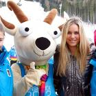 Three skiers got lost in the mountains near Innsbruck, Austria, during the Youth Winter Games but were rescued by a quick-thinking goat.