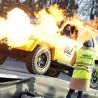 In Budapest, the driver of a Toyota 4Runner demonstrated the fine art of hot-wiring a vehicle during a Europe-to-Africa rally intended to raise money for education in some of the poorest African countries. Unfortunately, all the money was spent on fire extinguishers.