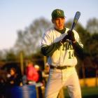 Eli at the bat for New Orleans' Isidore Newman High School.