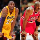 The ongoing comparison of Kobe Bryant and Michael Jordan has been brought up again, this time with his Airness saying he could defeat LeBron James in a game of one-on-one but not Kobe. Here's a look at their similarities when photographed on the court.