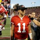 """Who would've thought Alex Smith could outgun Drew Brees? The embattled 49ers quarterback went toe-to-toe with the record-setting Saints QB in the Divisional round, trading a pair of lead-changing touchdowns with Brees in the final four minutes to give San Francisco a dramatic 36-32 victory. The lasting image: Smith hitting tight end Vernon Davis left for """"The Catch III"""" -- a game-winning, 14-yard touchdown that came with just nine seconds left."""