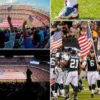 Teams unfurled field-size flags. The NFL curtailed its uniform policy to allow players, such as the Bears' Lance Briggs, to wear special spikes or gloves. And although football eventually took center stage, on the 10th anniversary of the attacks -- the opening Sunday of the NFL season -- the league offered a national remembrance for those who died in the Sept. 11 attacks