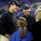 The Harbaugh family's Thanksgiving football game wasn't two-hand touch in the backyard. On national TV, older brother John got the best of Jim in the first NFL matchup between the coaches.  Baltimore's defense shut down Alex Smith and the San Francisco offense in a 16-6 victory.