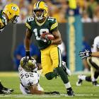 A rule changed moved kickoffs up to the 35-yard-line, and while touchbacks were at an all-time high, it didn't take long for someone to take a kickoff to the house. Green Bay's Randall Cobb had a 108-yard return in the NFL's Thursday night opener against the Saints, tying an NFL record.