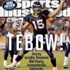 Which Tebow comeback was the best? Was it throwing two touchdowns in the final 2:44 to tie -- and eventually beat -- the Dolphins in his first start? Or maybe his 20-yard touchdown run to beat the Jets? Or marching past the Bears' defense en route to another overtime win? Whatever you're choice -- and whether you're Tebow-liever or not -- the Broncos quarterback stole headlines all season long.
