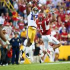 The big corner -- Claiborne is 6-foot-1, 185 pounds -- had an outstanding year for LSU, making six interceptions and winning the Jim Thorpe Award as the nation's best defensive back.