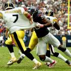Williams was limited to just five games this year thanks to a season-ending injury suffered in Week 5. There's no arguing that he's a star, but it remains to be seen whether or not the Texans -- who got 11.5 sacks out of Williams' replacement Connor Barwin -- will be willing to pay the large salary that will be required to re-sign the former No. 1 overall pick.