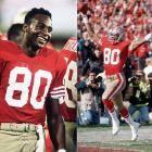 Less than four months removed from their Super Bowl XIX victory, the 49ers added to their already dominant offense when they traded up to select Jerry Rice 16th overall in the 1985 draft. The then little-known receiver from Mississippi Valley State went on to set every major receiving record during his Hall of Fame career.