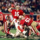 "The Niners won their third championship in 1989, getting a dramatic 92-yard touchdown drive that ended with 34 seconds on the clock to beat the Bengals 20-16 in Super Bowl XXIII. That final touchdown may have never happened if Montana -- in a move that cemented his ""Joe Cool"" reputation -- hadn't calmed his teammates at the start of the drive by nonchalantly pointing out comedian John Candy in the crowd."