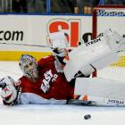 """For the third consecutive season, DiPietro makes 60-plus appearances, but there are ominous signs that the wheels are starting to come off his cart. During the offseason before the campaign, he has surgery on a torn labrum in his hip. In December, he sprains his left knee during pregame warm-ups and is sidelined for three matches. Selected for his first, and so far only, NHL All-Star Game, he tweaks his hip during the skills competition in Atlanta and later needs surgery, which costs him the last nine games of the season. His final numbers: 28-28-0-7, 2.82 GAA, and .902 save pct. The Isles finish at the bottom of the Atlantic Division and fail to make the playoffs.    CLICK HERE  to read Michael Farber's """"A Tale Of Three Goalies"""" (01.14.08)"""