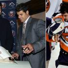 """On Sept. 12, 2006, DiPietro is signed to a mind-boggling, record 15-year, $67.5 million contract that, given his subsequent injury history, should appear in the dictionary under """"albatross."""" GM Garth Snow's famous last words: """"It's a great deal for the team because we get a flexible (cap) number that we can work with and add players as we need, it's a great deal for Ricky because he has term, and the big bonus is for our fans because they get to see a player that everyone loves for many more years to come.""""  DiPietro has another fine campaign, finishing sixth in the NHL in save pct. (.919) with a career-best shutout streak of 156:30 en route to becoming the first Islander goalie to have two 30-win seasons. On March 13, 2007, he is concussed in a collision with Montreal's Steve Begin, and lingering symptoms cause him to miss the final seven games of the regular season, but the offensively anemic Isles make the playoffs...only to fall to Buffalo in the first round, four games to one. League-wide, opinion of DiPietro remains high. """"Ricky has so much confidence that there's no fear of failure,"""" an Eastern Conference goalies coach tells SI's Michael Farber. """"He's special."""""""