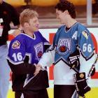 Brett Hull and Mario Lemieux.