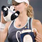 Russian tennis star Maria Kirilenko was shocked to learn after the fact that this panda was not actually real.