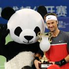 Even though he lost to Carlos Moya in the men's singles final in Sichuan, this panda was more than happy to give some face time to the fans.