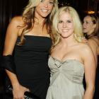 Burke (right) and softball player Jennie Finch attend the 30th Annual Salute to Women in Sports in October 2009.