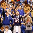 One of the newsmakers was a fan that kind of looked like Tom Brady.