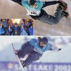 The first Olympic snowboarding events were held in 1998, and the U.S. managed two bronze medals. Home halfpipes were much friendlier in 2002. Ross Powers (top) led a U.S. men's sweep, followed by Danny Kass and J.J. Thomas. Kelly Clark (bottom) soared to women's gold.