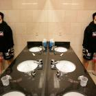 Athletes In The Bathroom
