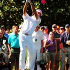 Bubba Watson hit an unbelievable shot from the woods on the second playoff hole at Augusta, setting him up for a simple par and a win over Louis Oosthuizen at the Masters. Watson made four straight birdies on the back nine and closed with a 4-under 68 to make the playoff.  Oosthuizen's round included a rare double-eagle.