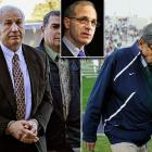 "Former Penn State president Graham Spanier, coach Joe Paterno and others hushed up a child sex abuse allegation against assistant coach Jerry Sandusky more than a decade ago for fear of bad publicity, allowing Sandusky to prey on other youngsters, according to a scathing internal report issued by former FBI Director Louis Freeh (inset) in July. Paterno ""was an integral part of this active decision to conceal"" and his firing was justified, Freeh said at a news conference. He called the officials' disregard for child victims ""callous and shocking."""