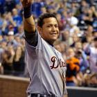 Miguel Cabrera became the first player to win baseball's Triple Crown since Boston's Carl Yastrzemski in 1967, and just the 15th player ever , joining an elite list that includes Mickey Mantle, Ted Williams and Lou Gehrig. Cabrera topped the American League with a .330 batting average, 44 home runs and 139 RBIs.