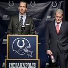 The Peyton Manning era in Indianapolis came to a rather inglorious end on March 7, when team owner Jim Irsay announced at a press conference that the team would release the iconic -- and still injured -- quarterback rather than pay him a $28 million roster bonus due on March 8. A teary-eyed Manning choked up while reflecting on his 14 years in Indianapolis and confirmed that he'll try to play next year, saying that he's not yet ready to retire. One thing that will be retired: Manning's No. 18 jersey. Irsay said that no Colts player will ever wear the four-time MVP's number again.