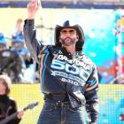 Tim McGraw performs before the start of the race in 2010. The 2010 running of the Daytona 500 was the longest in Daytona history due to two red flag stoppages to repair a pothole between turns 1 and 2. The two delays to work on the pothole took a combined two hours and 24 minutes.