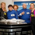 Kate Upton, Jane Lynch and the Three Stooges pose with the Harley J. Earl Trophy before the the 54th running of the Daytona 500. Winners of the race have received a small replica of the trophy since 1998, and the original remains on display at the Daytona International Speedway.