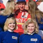 Bill Elliott celebrates at Victory Lane following his 1985 Daytona win. Elliott won the 500 twice in his career and holds the speed record at Daytona.